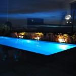 Mehrblickhaus Pool Nacht