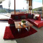 Ferienhaus in Bühlertal, Schwarzwald - Wohnzimmer mit Sicht in die Rheinebene
